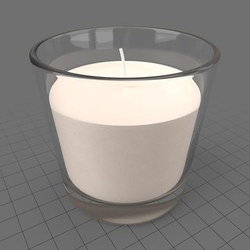 Aroma candle in glass holder