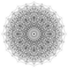 Sacred Geometry Mandala Energy Field Vector