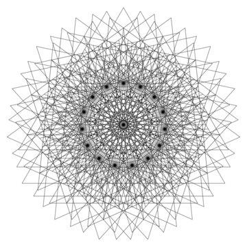 Triangular Vector Sacred Geometry Mandala Energy Field
