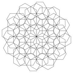 Hexagonal Sacred Geometry Mandala Energy Field Made with the Numerology of 12