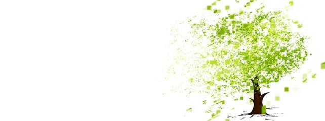 抽象的な緑の木