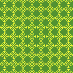 Vector Illustration. Pattern With geometric Ornament, Decorative Border. Design For Print Fabric. Paper For Scrapbook. Green yellow color