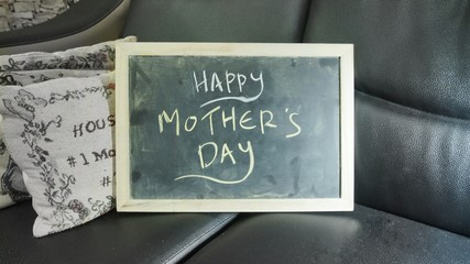Mother's Day wishes in chalkboard