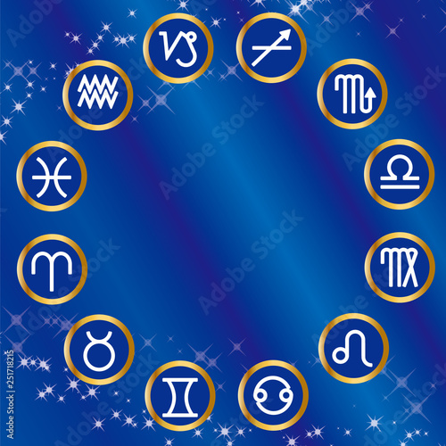 Zodiac signs Astrology icon astrological symbols,twelve
