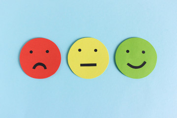 Collection of smileys for giving opinion row