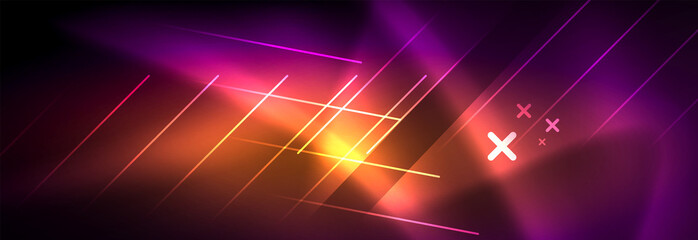 Shiny glowing lights neon color design background