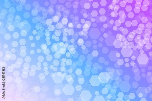 Hexagon Bokeh lights gradient background template