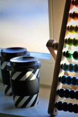 An Image of a abacus, coffee