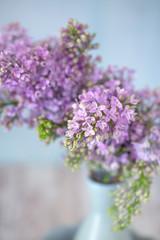 Close-up floral composition with a lilacs. Pastel colors.