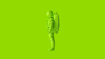 Lime Green Spaceman Astronaut Cosmonaut 3d illustration 3d render Wall mural