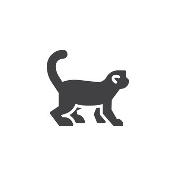 Monkey side view vector icon. filled flat sign for mobile concept and web design. Marmoset monkey glyph icon. Wild animal symbol, logo illustration. Pixel perfect vector graphics