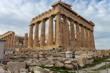 Parthenon - the temple of goddess Athena on Acropolis hill