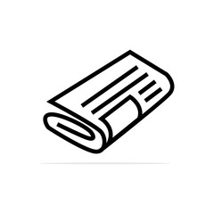 Newspaper Icon. Vector concept illustration for design.