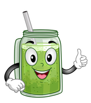 Mascot Smoothie Illustration