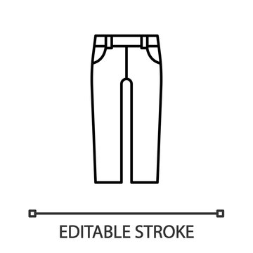Jeans linear icon