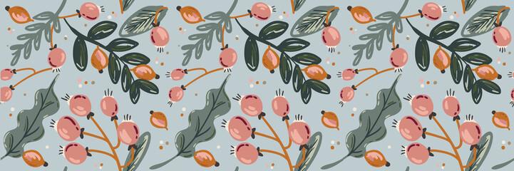 spring floral scandinavian illustrations