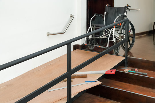 House Improvement , Installation wheelchair ramp for the aging and elderly inside home