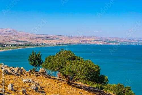 Fototapete Sea of Galilee viewed from mount Arbel in Israel
