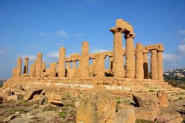 Italie, Sicile, Agrigente, temple d'Hera. c'est un temple dorique situé dans la vallée des temples.