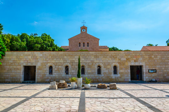Church of the multiplication of the loaves and fishes in Tabgha, Israel