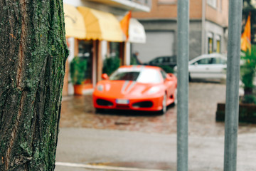 Maranello, Italy - 03 26 2013: View of the streets of Maranello.