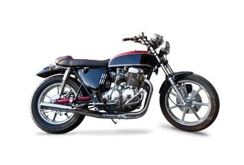 Retro motorcycle isolated on white