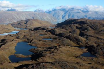 Lakes near Qassiarsuk with Illerfissalik