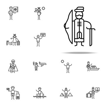 ancient merchant icon. Travel icons universal set for web and mobile