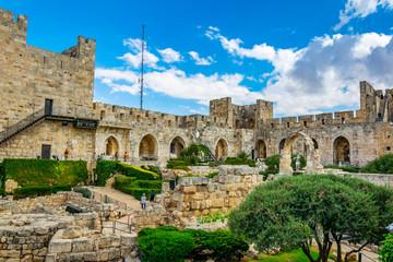 Printed kitchen splashbacks Monument Inner courtyard of the tower of David in Jerusalem, Israel