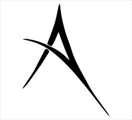 Tribal Letter A - Tribal Tattoo Design