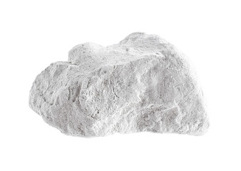 Quicklime on white background