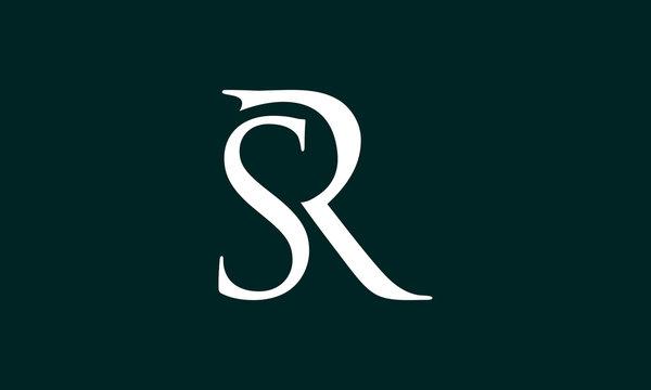logo brand SR with dark background