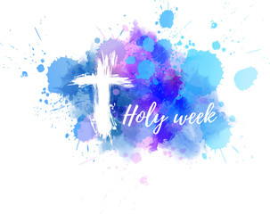 Holy week with cross background
