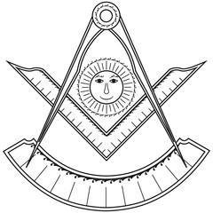 Masonic symbol of Past  Master for Blue Lodge Freemasonry