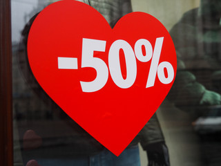 Papiers peints Rouge, noir, blanc Discount 50% on the background of the heart