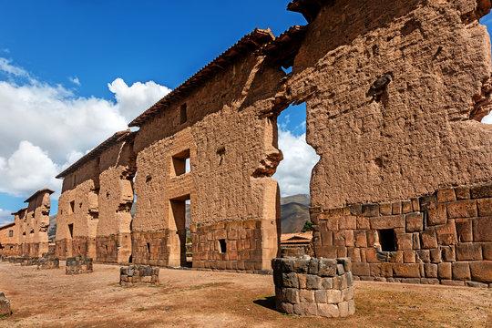 Temple of Wiracocha in Raqchi, Inka Ruins, Puno, Peru