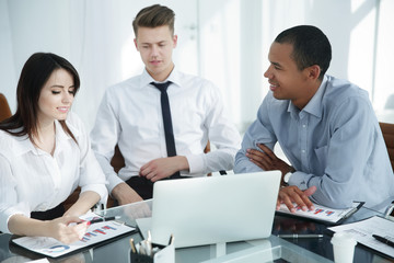professional business team working with financial documents