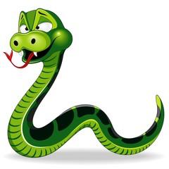 Snake Funny Cartoon Character Vector Illustration