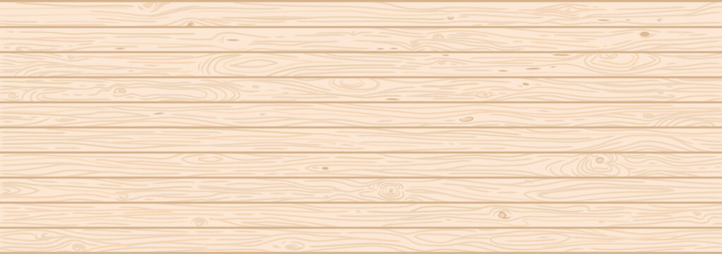 Light wood textured vector background. Natural hardwood texture