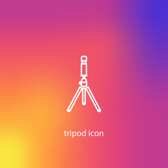 camera tripod icon. vector illustration
