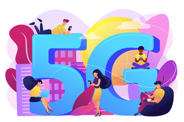 5g network concept vector illustration.