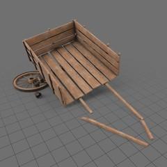 Broken wooden cart 1