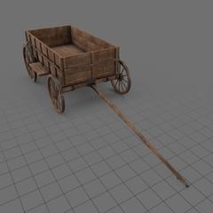 Vintage wooden cart 3