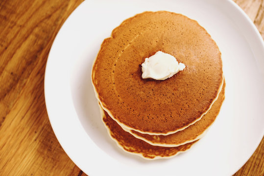 Stack of Pancakes with Butter