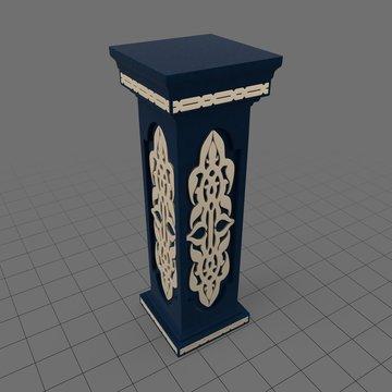 Square pedestal pillar