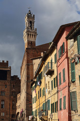 Tower of the city hall of Siena, Italy