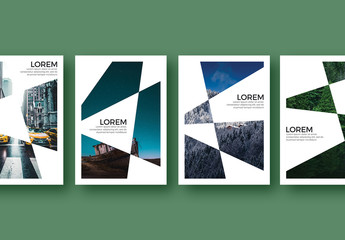 Poster Layouts with Irregular Geometric Shapes