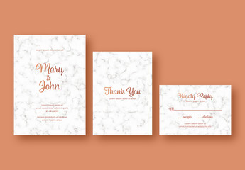 Wedding Suite with Marbled Background