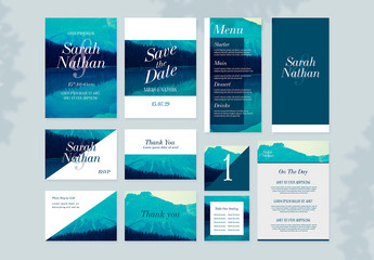Wedding Suite with Mountain Imagery