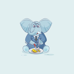 elephant in business suit shares coin